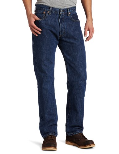 Levi Strauss & Co Herren 501 Original Fit Jeans, Schwarz (Black 0165),W34/L30