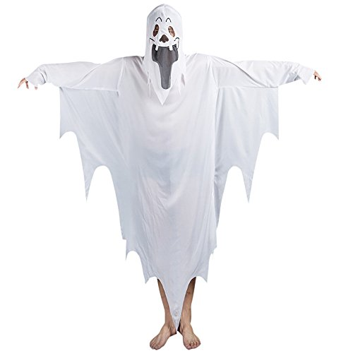 iß Ghosts Batsuit Halloween Kostüme Langarm Kleid Mantel Umhang (Plus Size Kostüme Diy)