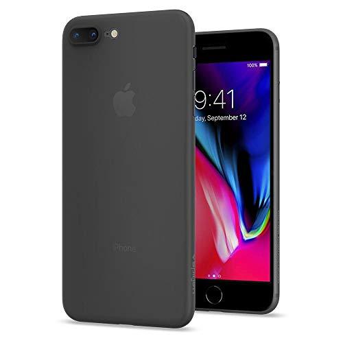 Spigen 055CS22594 Air Skin Kompatibel mit iPhone 8 Plus Hülle, Ultra Dünn Federleicht Handyhülle Matte Schutzhülle Slim Case Schwarz Slim Matte