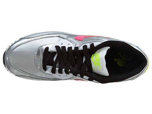 Nike Air Max 1 Gs 555766 Unisex-Kinder Low-Top Sneaker Silver/Rosa