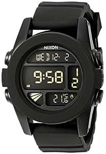 Nixon A197-000 The Unit Men's Black Alarm Chronograph Backlight Quartz Watch