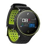 SKQC Reloj Inteligente, Reloj Inteligente a Prueba de Agua con Bluetooth 4.0 IP68 con Monitor de frecuencia cardíaca Podómetro Actividad física Rastreador Rojo