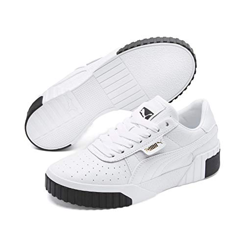 d5caafed6d Puma Women's Cali WN's Low-Top Sneakers, White Black, 4 UK
