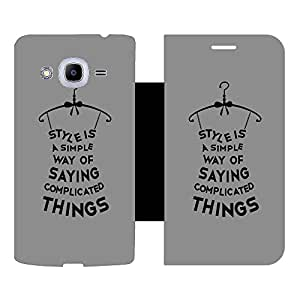 Skintice Designer Flip Cover with hi-res printed Vinyl sticker wrap-around for Samsung Galaxy J2 Pro (2016)