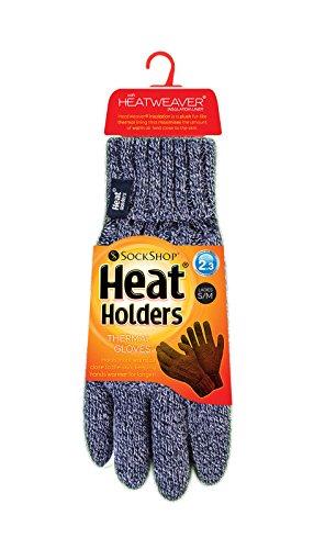 Heat Holders - Ensemble bonnet, écharpe et gants - Femme Ladies Navy Hat N/W  (Gloves s/m)