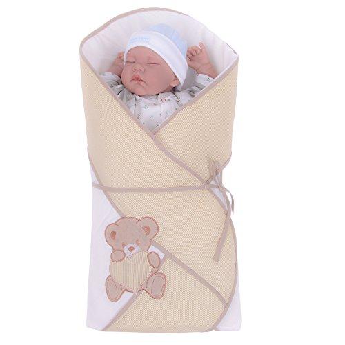 Sevira Kids - Gigoteuse d'emmaillotage Multi-Usage en 100% coton certifié - Nid d'ange naissance EXTRA, différent coloris