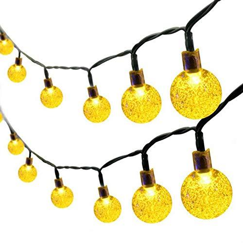 Noblik 30 Led Ball Led Ring Licht Solar Lampe Power Led String Lichter Ketten Solar Girlanden Garten Weihnachts Dekor Für Au?en (Weihnachten Garten Dekor)