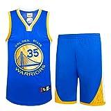 NBA Durant No. 35 Jersey Männer Basketball Kleidung T-Shirt Anzug,Blue,M