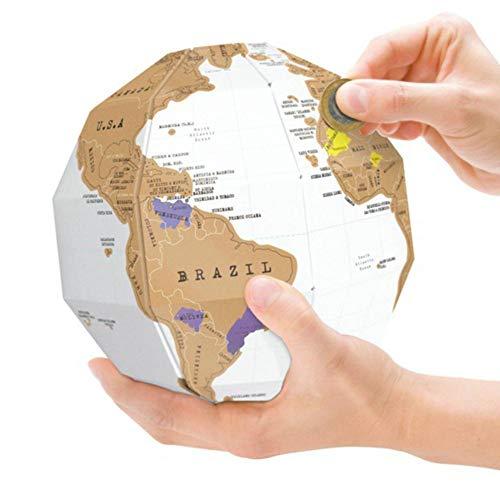 iBaste Scratch Off Weltkarte Poster, DIY Scraping Map Globe-Beste Geschenk für Reiseplaner