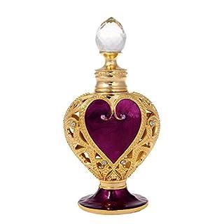 Inconnu H & D 8ml Loving Heart rétro en métal Verre bouteilles de parfum vide Bouteille de parfum rechargeable