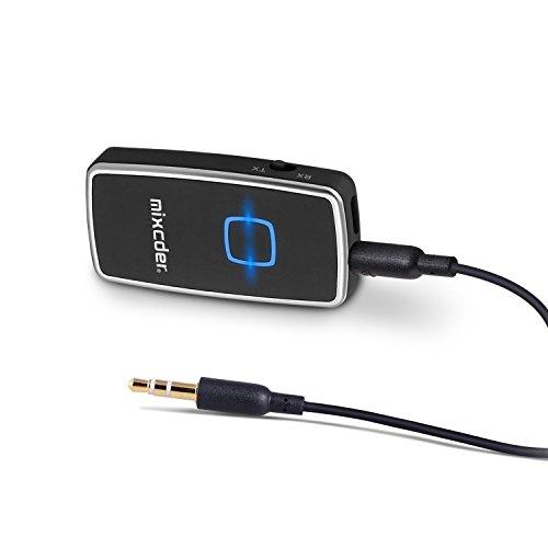 Preisvergleich Produktbild Bluetooth Audio Adapter, Mixcder TR007 Bluetooth Transmitter und Receiver 2-in-1 Stereo Bluetooth 4.1 Audio Adapter mit 3,5 mm Stereo Ausgang für Lautsprecher, Kopfhörer, TV, PC, iPod, MP3 / MP4, Auto Radio