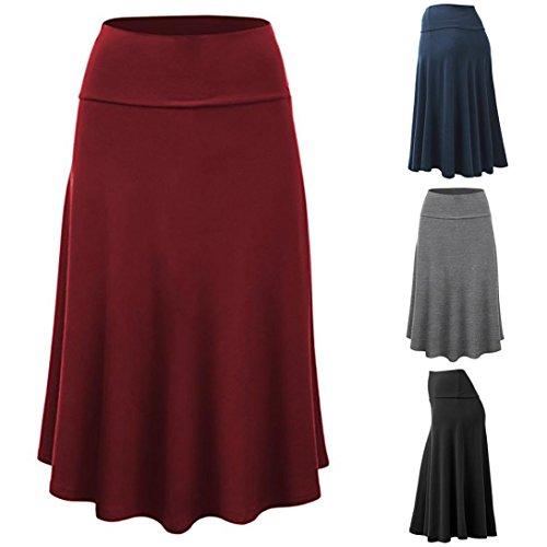 6b185eea0b3d2b Zarupeng Damen Business-Rock, Oversize Elegant Uniform Maxi-Rock Einfarbig Hohe  Taille Midi