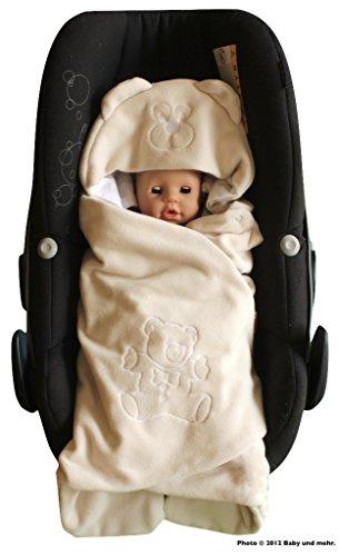 ByBoom - Couverture enveloppante d'été avec capuche, universelle pour coques bébé, sièges auto, par ex. Maxi-Cosi, Römer, pour landaus, poussettes ou lits béb