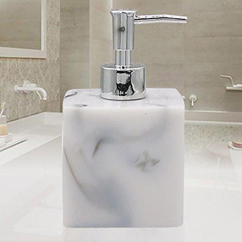 FLAMEER Jabón De Resina, Champú, Dispensador, Baño, Líquido, Cuerpo, Loción, Bomba, Botella, Jarra, Vario - Color de Mármol
