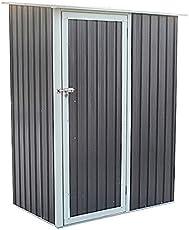 SVITA Geräteschrank Geräteschuppen Metall-Schrank Metall-Schuppen Garten-Schrank 130 x 80 x 186 cm - Grau Oder Grün