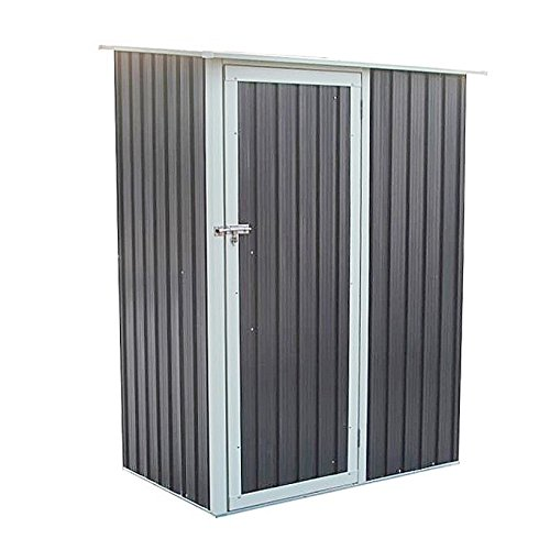 SVITA Geräteschrank Geräteschuppen Metall-Schrank Metall-Schuppen Garten-Schrank 130 cm x 80cm x 186 cm - Farbwahl (Grau/Anthrazit)
