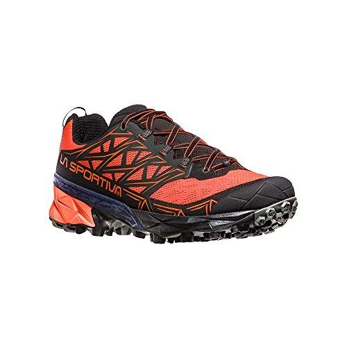 La Sportiva Akyra, Zapatillas de Trail Running para Hombre, Multicolor Tangerine/Black 000, 44.5 EU...