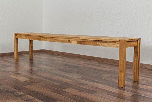 Bank Wooden Nature 134 Eiche massiv - 200 x 33 cm (L x B)