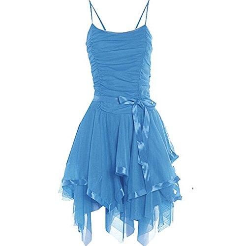 Janisramone - Robe - Robe de cérémonie - Sans Manche - Femme * taille unique Turquoise