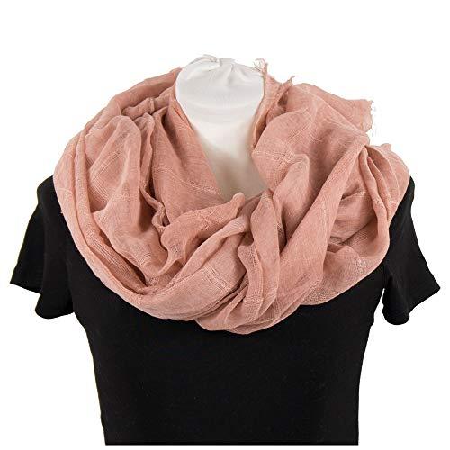 Sciarpa cipria in cotone primaverile estiva da donna grande sciarpone stola coprispalle rosa foulard scialle pashmina fular primavera estate 2019 casual da giorno sera passeggio leggero di moda cipria