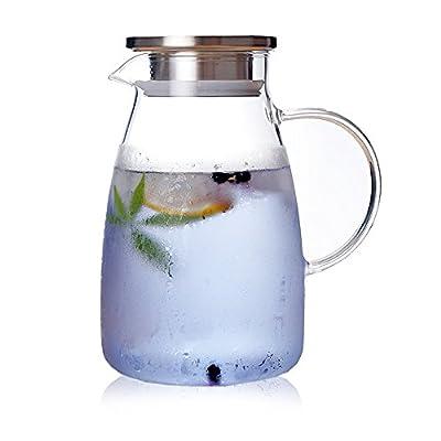Verre résistant à la chaleur de ménage bouilloire froide grande capacité bouilloire froide anti-déflagrant Haute résistance à la température bouilloire de thé bouilloire épaissie jus