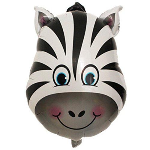 (Tierkopf Ballons, YooGer bunte Tiere wiederverwendbare Folie Ballons für Geburtstag Baby Shower Party Dekorationen Geschenk, 2 Pack (Zebra))