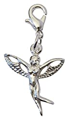 Pendant Snap Hook Angel With Brass-plated