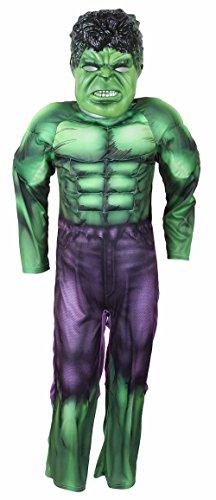 Original Lizenz Hulk AVENGERS Kostüm für Jungen (3-4 Jahre 104 cm)