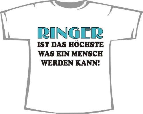 Ringer ist das Höchste was ein Mensch werden kann; Kinder T-Shirt weiß, Gr. 1-2 (2 Kinder Ringer T-shirt)