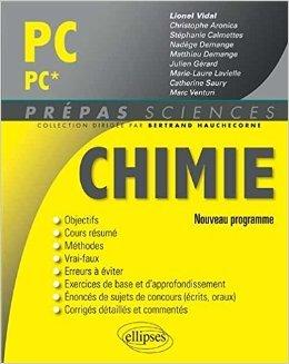 Chimie PC/PC* Programme 2014 de Lionel Vidal,Christophe Aronica ,Stéphanie Calmettes ( 15 juillet 2014 )