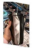 Unbekannt Erwachsenes Saftkaffee-Getränktasse, unregelmäßige Rhombussteigungs-Edelstahlstrohschale mit Deckel,Primärfarbe,Strohbecher GJ