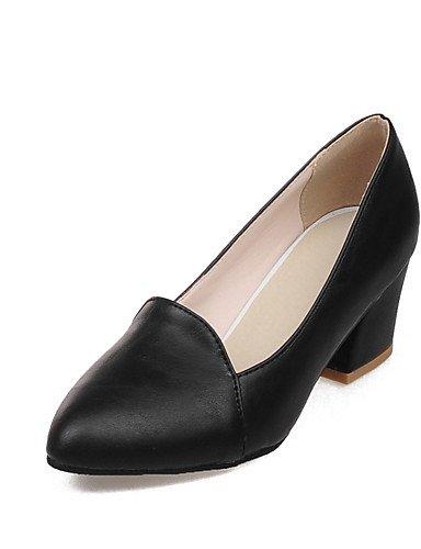WSS 2016 Chaussures Femme-Extérieure / Bureau & Travail / Habillé-Noir / Gris / Amande-Gros Talon-Talons / Confort / Bout Pointu-Talons- gray-us8 / eu39 / uk6 / cn39