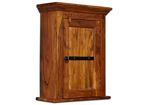Petit meuble à suspendre - Bois massif d'acacia laqué (Miel) - Style colonial - OXFORD #01003