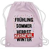 Karneval & Fasching - Frühling, Sommer, Herbst, Karneval, Winter - Karneval Kostüm - Unisize - Pastell Rosa - WM110 - Turnbeutel & Gym Bag