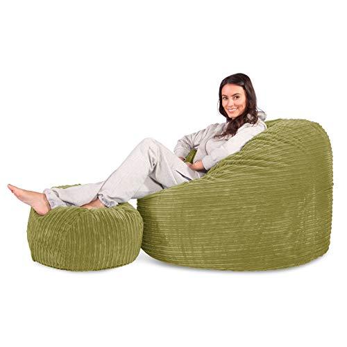 Lounge Pug®, Puff Gigante, C500L, CloudSac Viscoelástico, Pana Clás