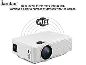 Jambar JP-04 WiFi Miracast 1800 Lumens HD LED 120-inch Dispaly 1080p Home Cinema Projector