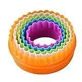 ZHOUBA Fondant-Kuchen Sugarcraft Ausstecher Ausstechformen-Set, zum Formen, plastik, Round, Round #