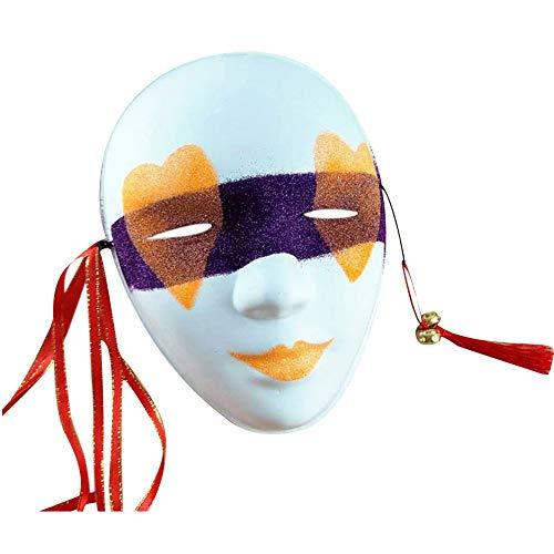 Kostüm Glitter Ball - Kunststoff Glitter Maskerade Maske japanischen Kabuki volles Gesicht Kostüm Maske Cosplay Party Halloween Masquerades Ball Festival