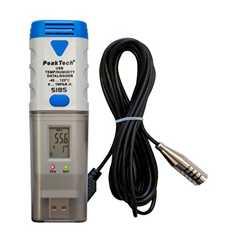 PeakTech Datenlogger - USB Temperatur Data Logger/Rekorder mit PC-Software und Externem Sensor für 32.000 Messwerte, 1 Stück, P 5185 -