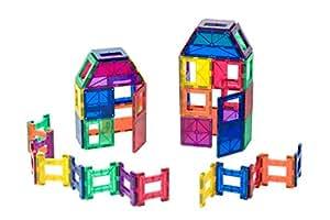 Coffret Playmags 48 pièces: Solide et ultra résistant avec des tuiles de couleurs claires et vives