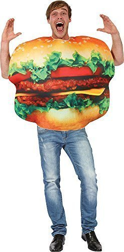 Adultes-Comdie-Fast-Food-Enterrement-De-Vie-De-Garon-Costume-Dguisement-Hamburger-Dguisement