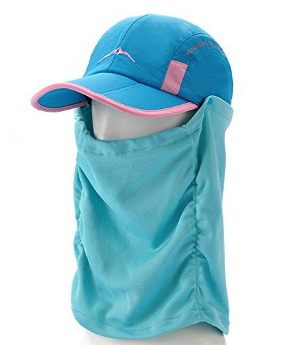 Belsen Casquette Protège-nuque Chapeau Unisexe Réglable Bleu