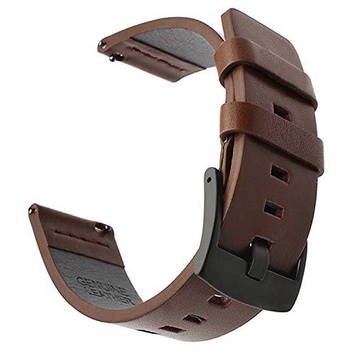 a64b287e96f Nueva Correa de Reloj Italy Oil Leather Watchband + Herramienta Quick  Release Watch Band Muñeca Strap18-24mm