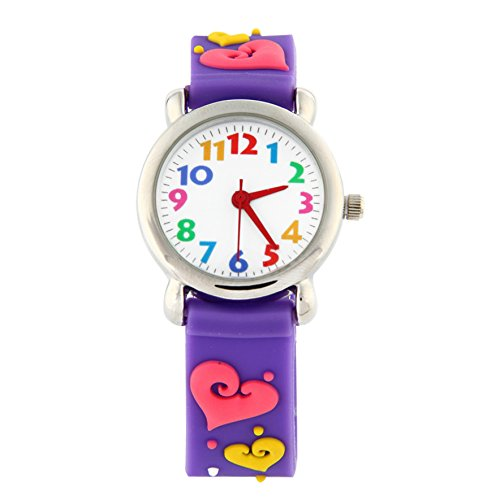 Kinder Armbanduhr Analog Uhren, Mädchen Time Teacher Kinderuhr Uhren Wasserdicht Teaching Kinderarmbanduhr Uhr für Kinder Mädchen
