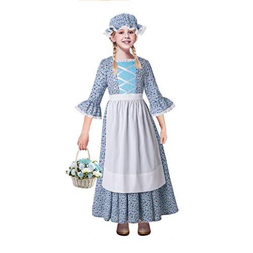 Village Kostüm Mädchen People - Pettigirl Pioneer Mädchen Kleid Colonial Prairie Kostüm