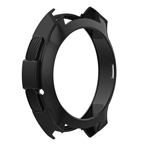 YBWZH Weiche TPU-Schutzhülle aus Silikon für Samsung Galaxy Watch 42 Flexibles TPU Ultradünner Vollschutz Stoßfänger Hülle Bruchsicher Stoßfestes Displayschutz Hülle(Schwarz)