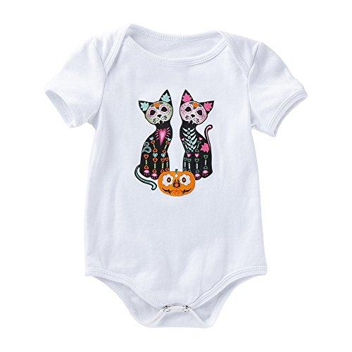 Baby Body Strampler Jungen Mädchen Schlafanzug Baumwolle Overalls Säugling Spielanzug Baby-Nachtwäsche Halloween Kostüm Verkleidung Karneval Party von Innerternet
