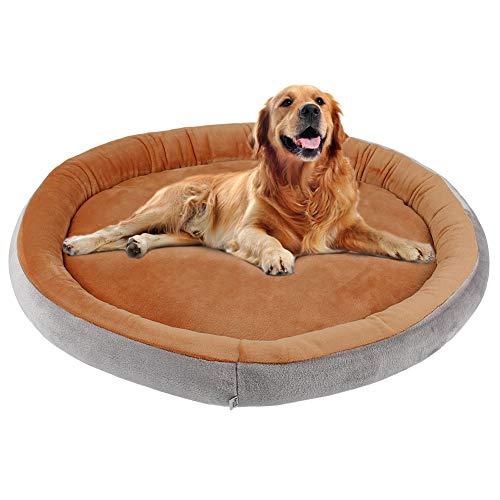 JoicyCo Hundebett Großes orthopädisches Bett für Hunde und Katzen Rundes Kissen Sofakissen Waschbar Rutschfest mit abnehmbarem Bezug, L