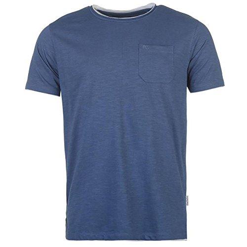 Pierre Cardin Mens neue Saison unbedingt Classic Fit Crew Neck T-Shirt (Large, Indigo (mit Tasche))