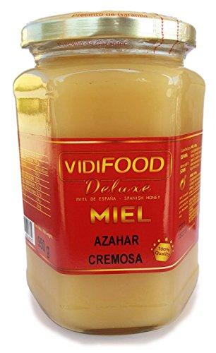Miel de Azahar Crema - 950g - Producida en España - Alta Calidad, tradicional & 100% pura - Aroma Floral Intenso y Sabor Fuerte y Dulce - Amplia variedad de Deliciosos Sabores